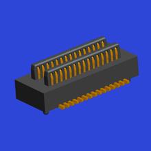 0.50mm间距BTB 双槽 公座Male 立贴带定位柱
