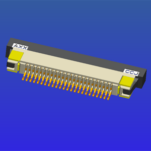 0.5mm間距半包下接抽屜式FPC
